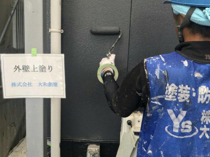 壁塗装(上塗り)