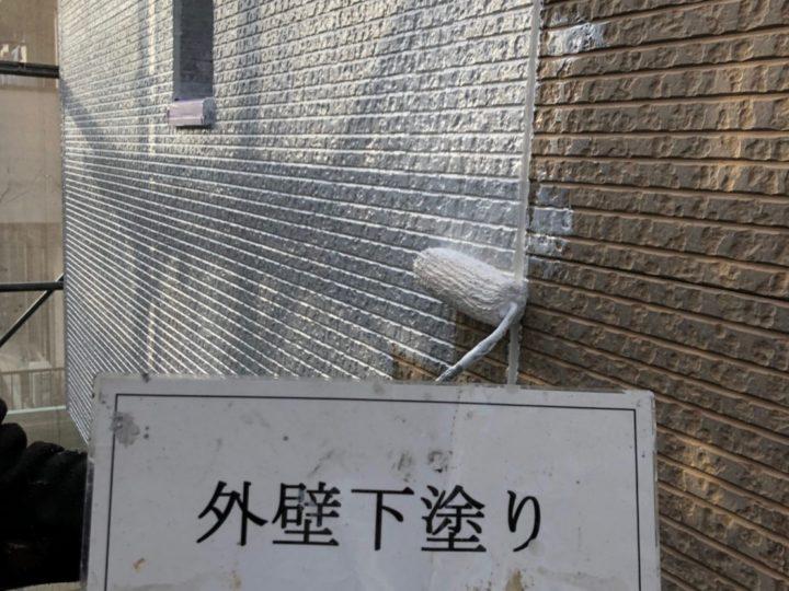 外壁塗装下塗り工事