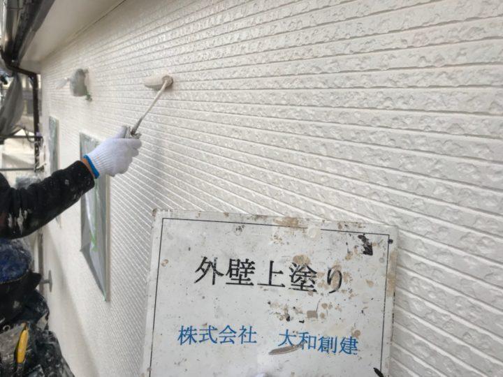 外壁塗装上塗り工事