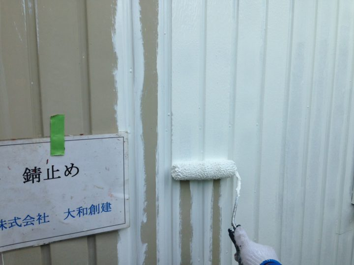 外壁塗装工事(錆止め)
