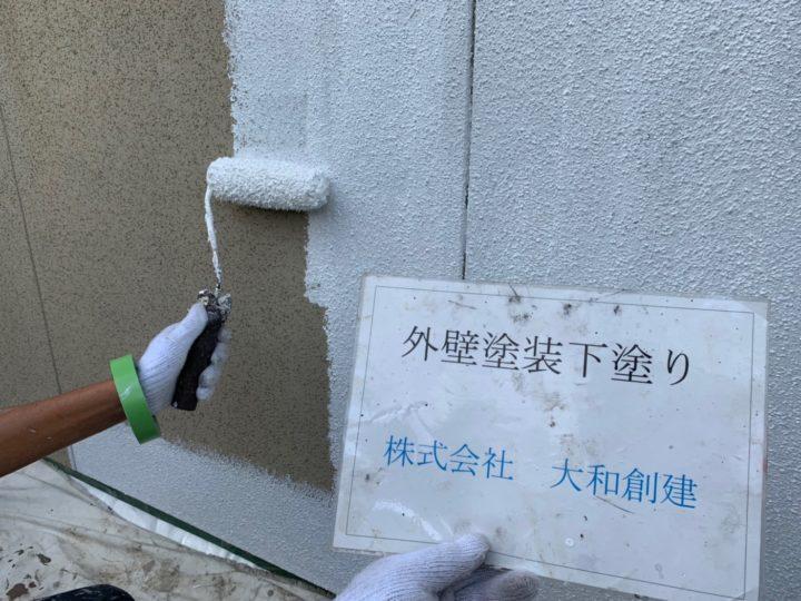 外壁塗装工事(下塗り)