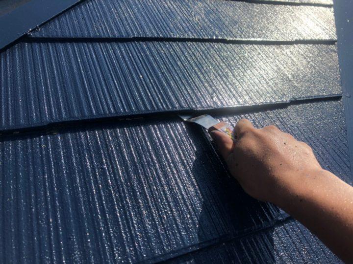 屋根塗装工事(縁切り)
