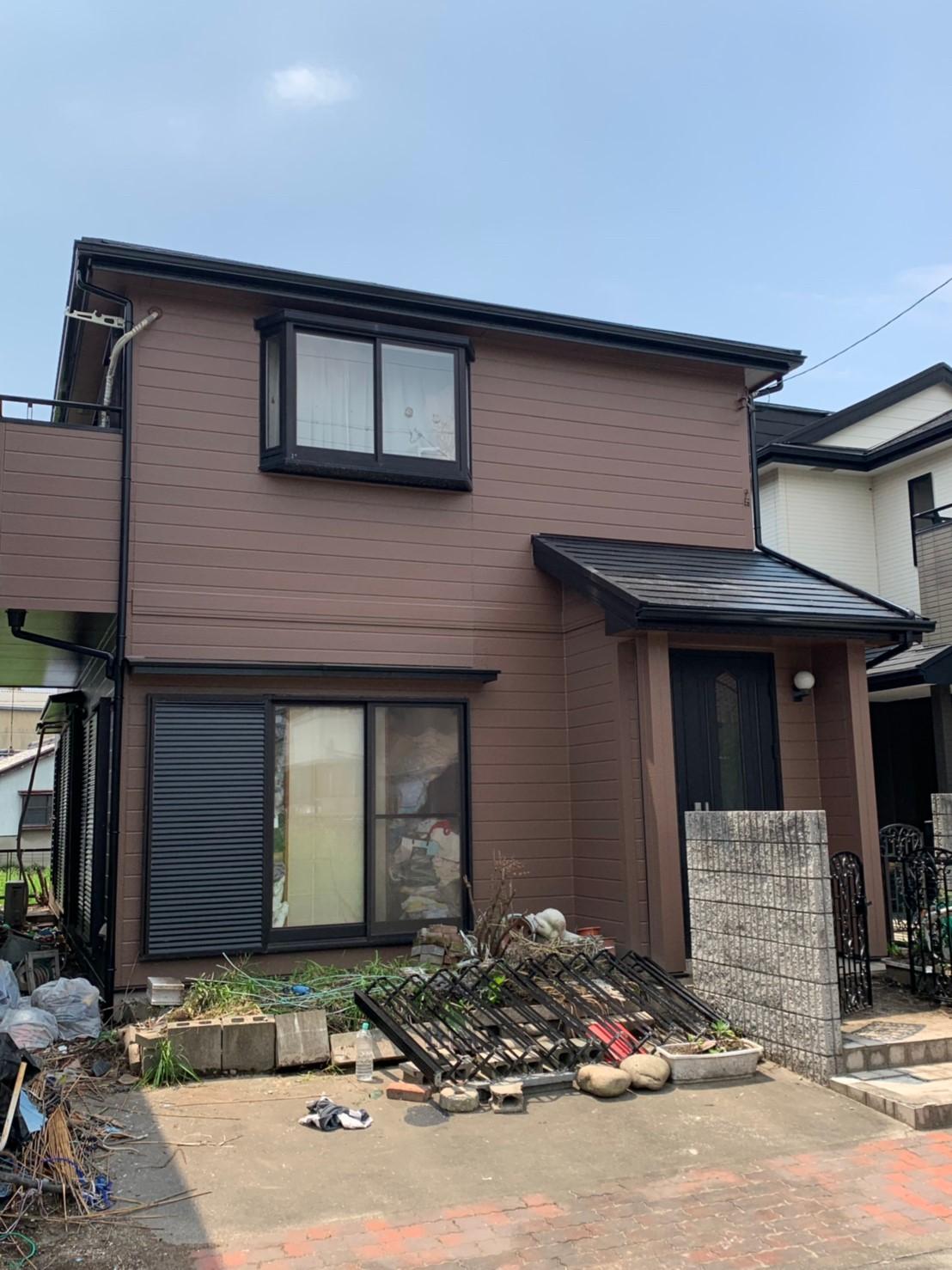 一宮市A様邸 外壁塗装工事 屋根塗装工事 付属塗装工事