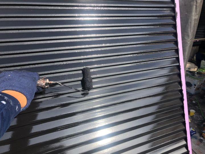 雨戸塗装2回目