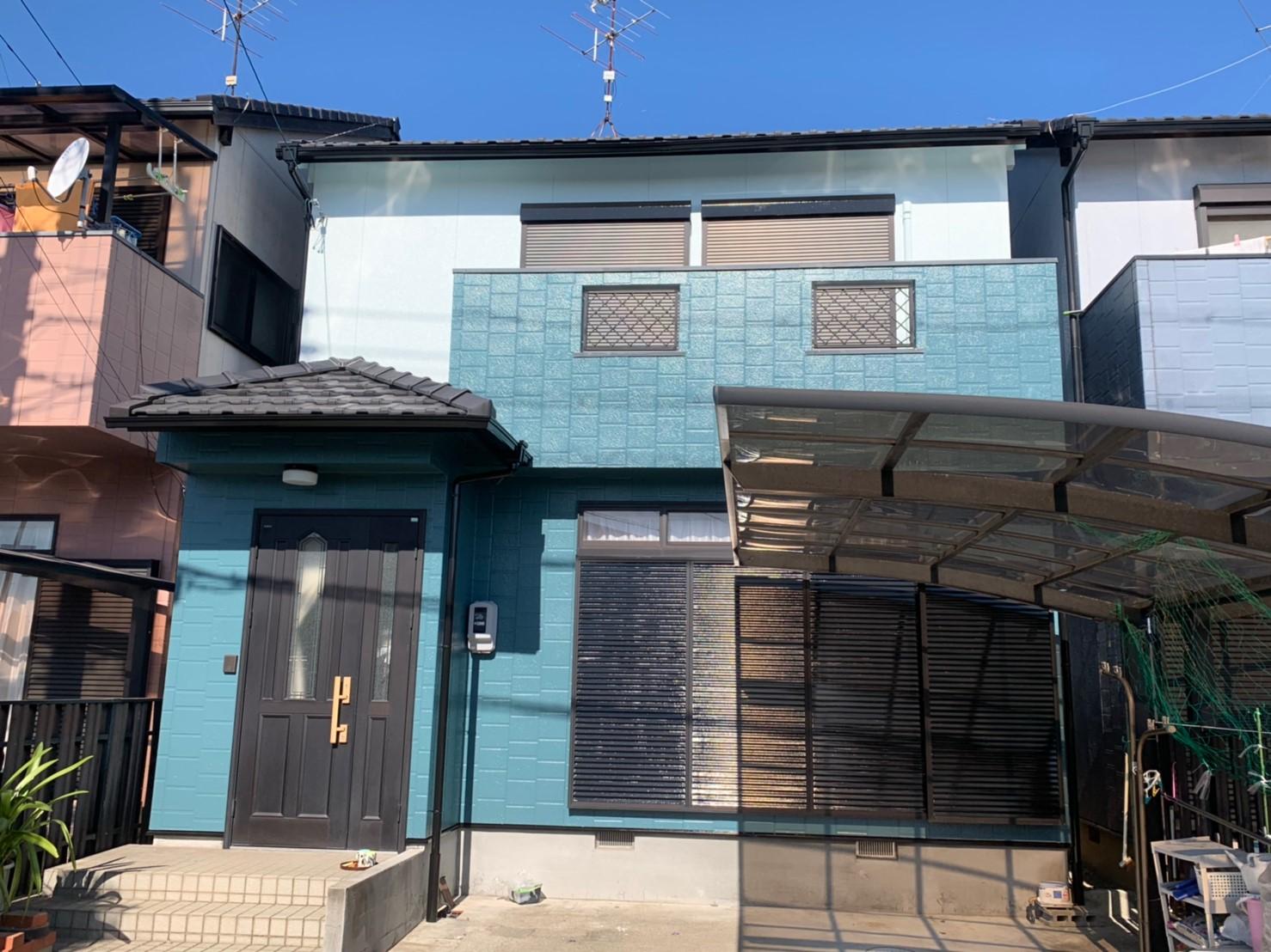 清須市N様邸 外壁塗装工事 付属塗装工事  シーリング工事