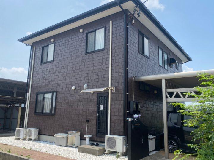 江南市 N様 外壁塗装工事 多彩模様仕上げ 付属塗装工事 シーリング工事
