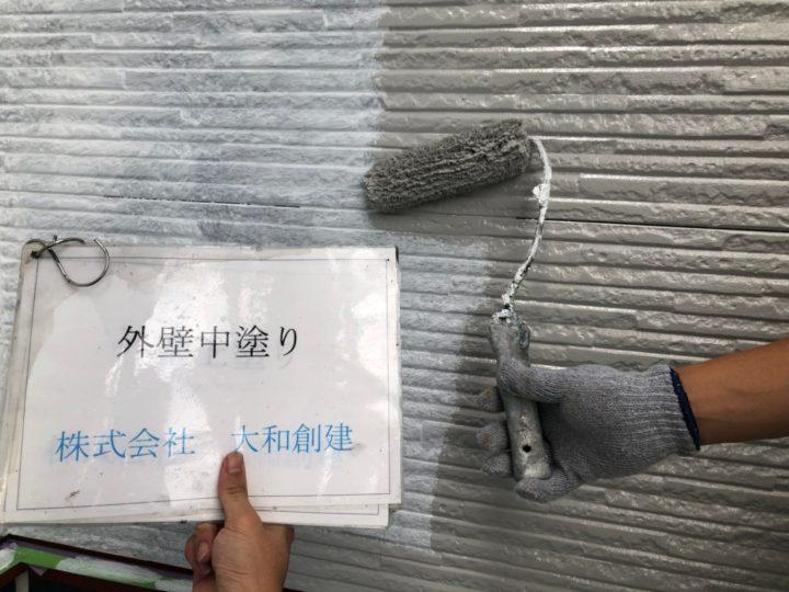 外壁中塗り(上部)