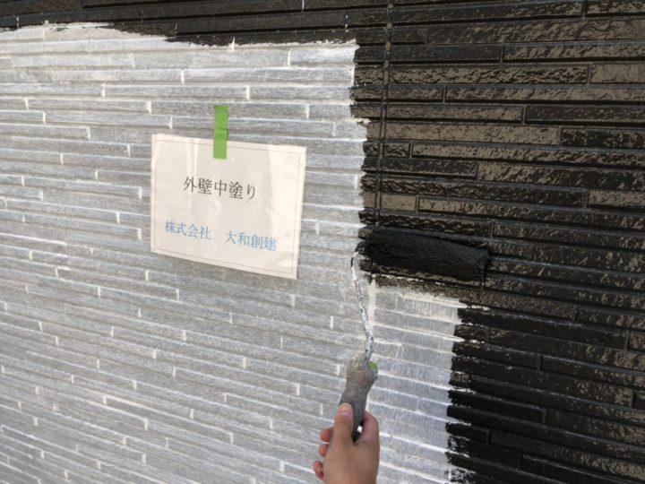 外壁中塗り(下部)