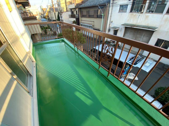 名古屋市中村区 M様邸 ベランダ防水工事 ウレタン防水密着工法