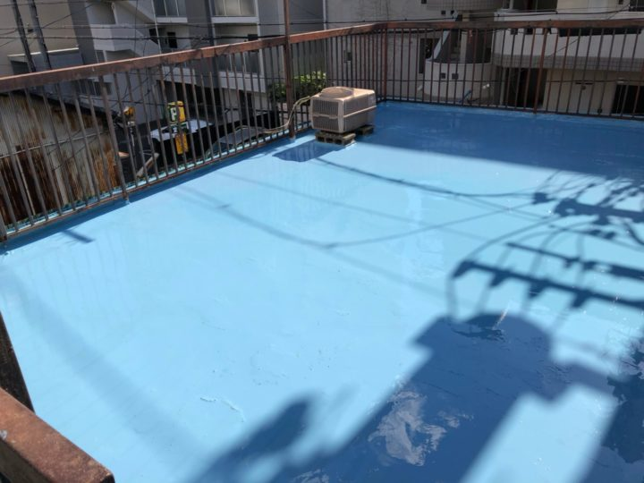 防水塗装1回目完了