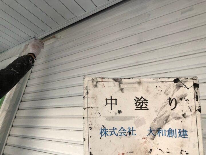 雨戸塗装1回目