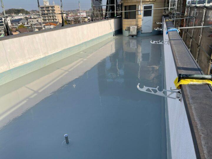 東海市B様(会社ビル) 防水工事 ウレタン通気緩衝工法