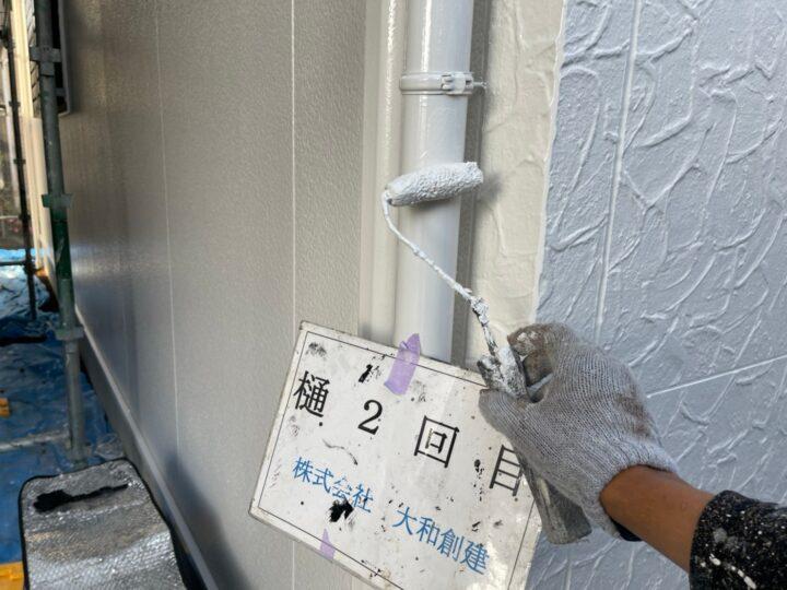 樋塗装2回目