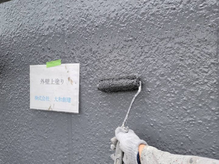 外壁塗装上塗り(側面)
