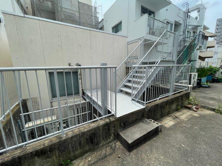 名古屋市名東区 Kオーナー様 鉄骨階段塗装工事