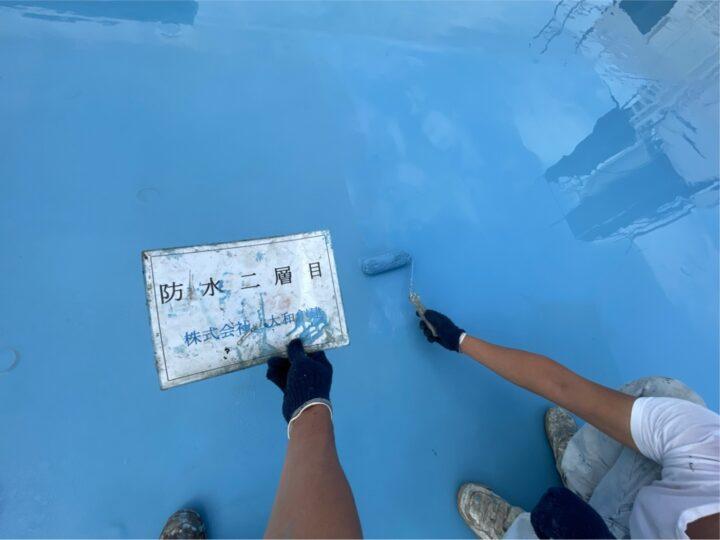 屋上防水2層目