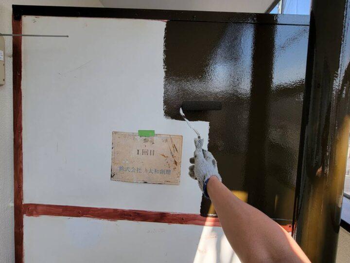 隔て板塗装1回目