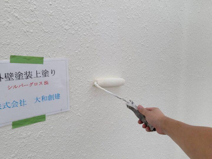 通路面外壁塗装上塗り