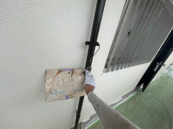 通路面雨樋塗装2回目